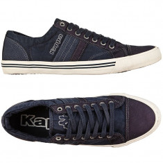 Tenisi originali KAPPA- adidasi kappa barbati - panza - in cutie - 40.5 - Tenisi barbati Kappa, Culoare: Albastru, Textil