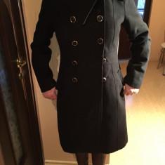 Palton dama stofa, pt iarna, Marime: 40/42, Culoare: Negru