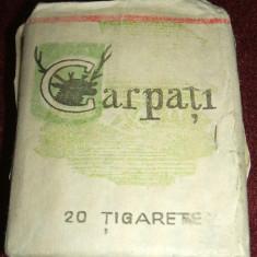 Pachet tigari - Pachet plin tigari Carpati (tip 2), Epoca de Aur, Intreprinderea Tigarete Iasi