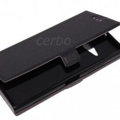 Husa Telefon Nokia, Negru - HUSA NOKIA LUMIA 730 / 735 CARTE CU INCHIDERE MAGNETICA SI PORTCARD NEGRU