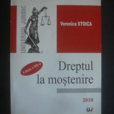 VERONICA STOICA - DREPTUL LA MOSTENIRE - Carte Dreptul familiei