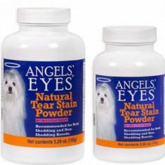 Caine - Angels'Eyes 150gr pui pt eliminare pete lacrimi caini si pisici cu blana alba bichon maltese, bolognese frise, westie, shih tzu
