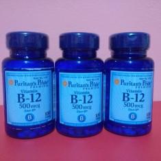 Vitamina B12 500 mcg, 100 comprimate, anemii, cel mai bun pret in Romania! - Vitamine/Minerale