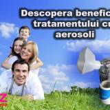 Aparat aerosoli portabil cu ultrasunete nebulizator inhalator silentios sigilat - Aparat aerosoli copii Altele, Altele, Cu ultrasunete