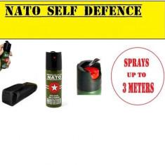 Spray Paralizant. NATO-CS + HUSA Cadou. Spray Autoaparare 60 ML. Made In Germany. Self Defensive American Style NATO SIGILAT