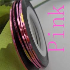 Unghii modele - Banda decorativa pentru modele unghii de culoare roz deschis, benzi decorative