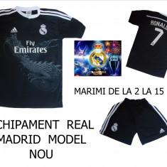 Set echipament fotbal Adidas - ECHIPAMENTE FOTBAL - COPII REAL MADRID, MARIMI 4 - 15 ANI, LIVRARE GRATUITA