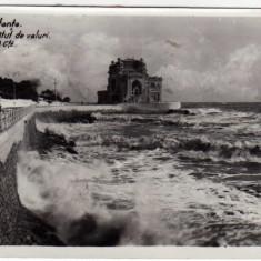 CONSTANTA CAZINOUL BATUT DE VALURI, STAMPILA DREPTUNGHIULARA -MANDAT SANT PETRU DE CAMPIE 1939 - Carte Postala Dobrogea dupa 1918