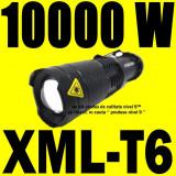 MINI Lanterna LED CREE XML T6 + 2 X Acumulator 18650 + Mega Zoom + 5 Faze + Lupa