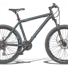 VAND BICICLETA CROSS GRIP 124, 19 inch, 26 inch, Aluminiu, Negru-Albastru