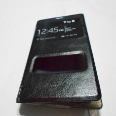 Husa Avantalk Nokia 520 Lumia Negru cu s-view - nu mai este necesar deschiderea capacului, Nokia Lumia 520, Piele, Cu clapeta