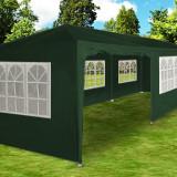 Cort de gradina 3x9 m verde, pavilion, cort bere, cort nunti 9x3 m