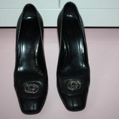 Pantofi piele naturala GUCCI originali SUA - Pantof dama Gucci, Marime: 40, Culoare: Negru