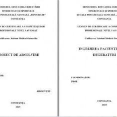 LUCRARE DE LICENTA A.M.G. - INGRIJIREA PACIENTILOR CU DEGERATURI (+ prezentare Power Point)