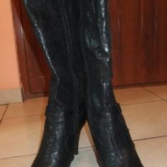 Cizme dama, Negru - Cizme ciocate
