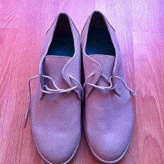 Vand pantofi H&M, model office, marime 43, noi - Pantofi barbati H&m, Culoare: Gri, Textil, Gri