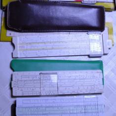 Lot de 3 rigle colectie Aristo Castell una italiana rigla calculat calculator