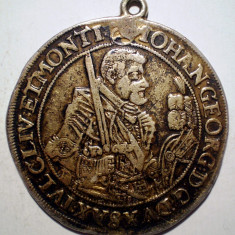 C.332 GERMANIA SAXONIA GEORG JOHANN 1 TALER THALER 1631 HI ARGINT 29, 1g/44mm - Moneda Medievala, Europa