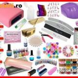 Unghii false BeautyUkCosmetics - Kit set unghii gel manichiura complet constructie tipsuri lampa uv pila + CADOU