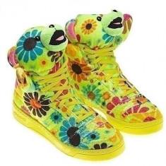 Adidasi dama - Vand adidas / gheata ADIDAS JEREMY SCOTT FLOWER POWER - PE STOC !CURIER GRATUIT!