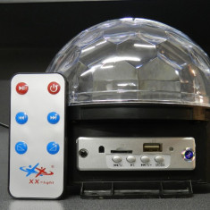 Lumini club - Glob multicolor LED MP3 USB BLUETOOTH DISCO MAGIC BALL LIGHT TELECOMANDA