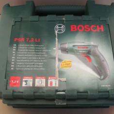 Bosch - Surubelnita electrica bormasina Bosch PSR 7.2 Li, 'fab 2014'