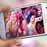 Husa tip carte cu stand Smart Magnet neagra pentru telefon Samsung Galaxy J3 (SM-J320F) (2016)