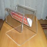 Mobila - SUPORT DEPOZIT ZIARE, REVISTE, carti, din plexiglas, transparent, modern, Germania