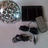 SOLAR Lampas cu panou FOTOVOLTAIC + ACUMULATOR cu incarcare si de la priza + tel