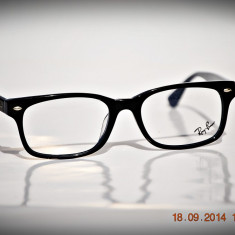 Rama ochelari Ray Ban, Unisex, Negru, Dreptunghiulare, Plastic, Rama intreaga - Rame de ochelari de vedere Ray Ban RB5286F 5059 Interior albastru