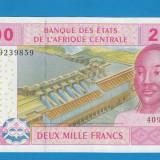 Bancnota Straine - Africa 2000 francs franci 2002 UNC