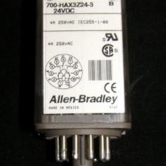 Releu Allen Bradley actionare 24 Vdc 3 contacte no/nc 4A 250 Vac cu montaj soclu 11 pini