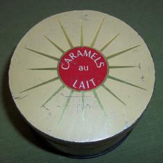 Cutie Reclama - Cutie metalica caramels au lait E. Bonneru Carpetrans