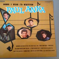 PAUL ANKA - SONGS I WISH I'D WRITTEN (1970/RCA REC/ UK ) - VINIL/PICK-UP/VINYL - Muzica Rock rca records