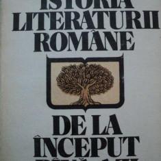 ISTORIA LITERATURII ROMANE DE LA INCEPUT PANA AZI-AL.PIRU - Studiu literar