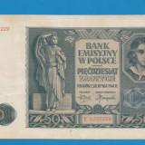 Polonia 50 zloti 1941 aUNC - bancnota europa