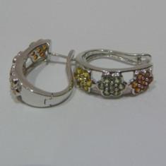 Cercei aur 14k cu sapphire