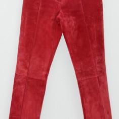 ESPRIT - Pantaloni de Dama - Piele intoarsa rosu - Pantaloni dama Esprit, Marime: 36, Lungi