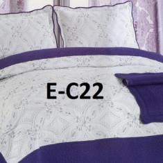 Cuvertura de pat bumbac brodat EC22