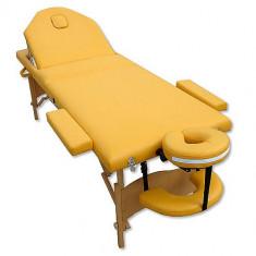 Masa masaj - Masa de masaj, pat cosmetica 3 zone pliabil si portabil