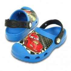Saboti Crocs CC Lighting MC quen Ocean (CRC14831-OCE) - Papuci copii Crocs, Marime: 21.5, 23.5, 27.5, 32.5, 33.5, 34.5, Culoare: Albastru