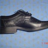 Pantofi piele naturală marca AGDESY - Pantofi barbati, Marime: 43, 44, Culoare: Negru