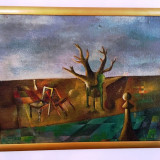 "PICTURA TEMATICA ""COMPOZITIE"" SEMNATA IOAN EMIL KETT-GROZA - Pictor roman, Abstract, Ulei, Cubism"
