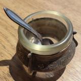 Solnita metal argintat si cristal - model central european, Altele