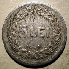 Monede Romania, An: 1949 - B.406 ROMANIA RPR 5 LEI 1949