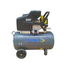 Compresor electric - STAGER Compresor aer HM2050B/50L, 50 l, 8bar