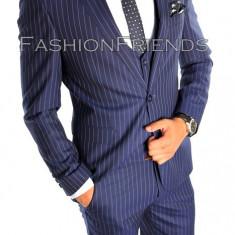 Costum tip ZARA - sacou + pantaloni - vesta costum barbati casual office - 4876