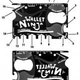 Unealta Card Multifunctionala 18 in 1 - Wallet Ninja