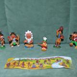Surpriza Kinder - Lot 6 figurine surprize ou Kinder, indieni si explorator, plastic, colectie