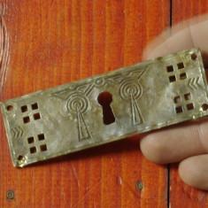 Metal/Fonta - Vechi ornament pentru cufar / cutie cu ornamente traditionale deosebite !!!
